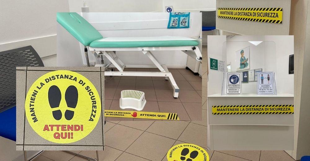 Segnaletica Covid-19 Studio pediatra Felice